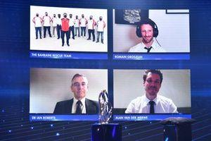 Trophée spécial du président FIA : les commissaires de Bahreïn et l'équipe médical FIA