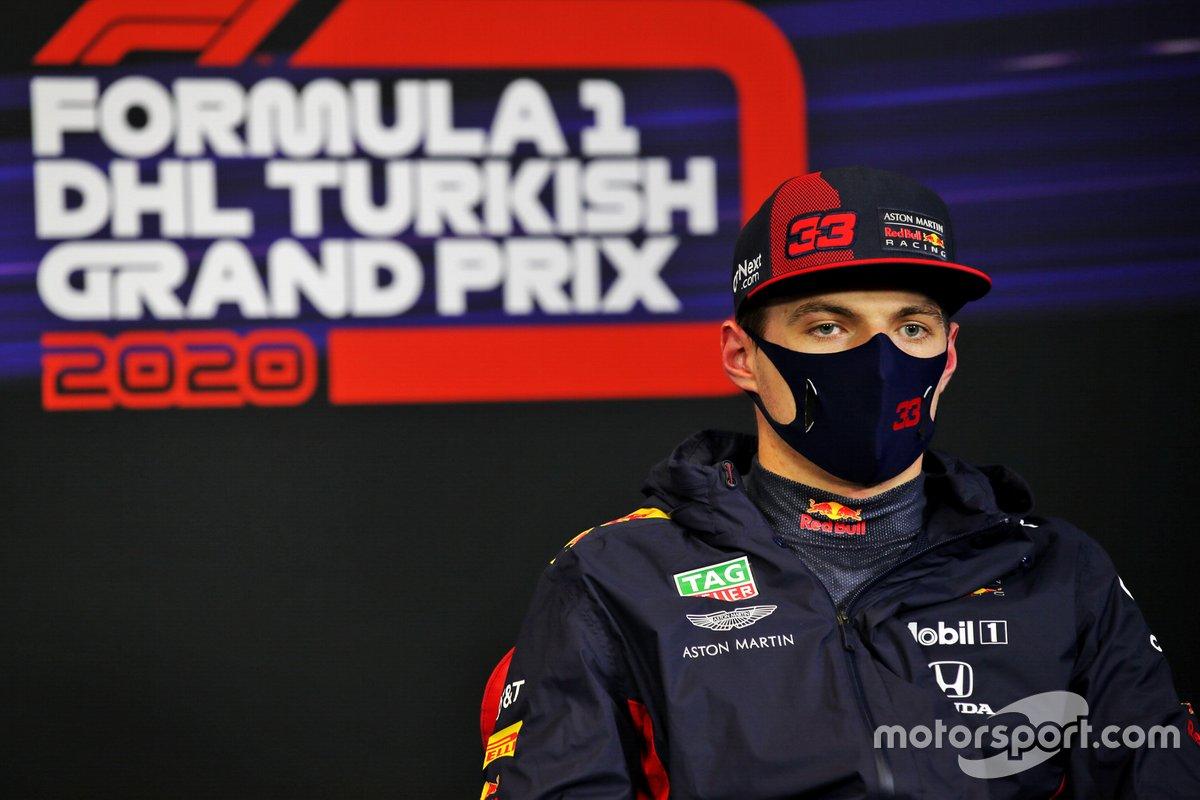 Max Verstappen, Red Bull Racing, durante la conferenza stampa dopo le Qualifiche
