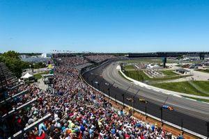 Scott Dixon, Chip Ganassi Racing Honda, Colton Herta, Andretti Autosport Honda