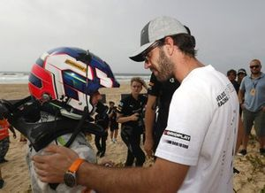 Jamie Chadwick, Veloce Racing and Formula E driver and Veloce Racing co-founder Jean-Eric Vergne