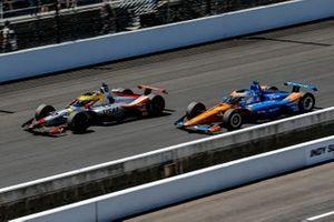 Conor Daly, Ed Carpenter Racing Chevrolet et Scott Dixon, Chip Ganassi Racing Honda