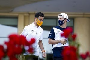 Daniel Ricciardo, McLaren and Pierre Gasly, AlphaTauri