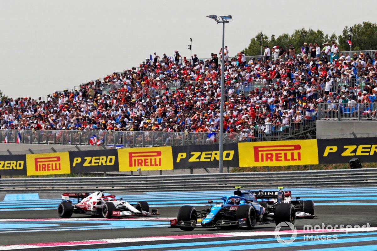 Esteban Ocon, Alpine A521, Antonio Giovinazzi, Alfa Romeo Racing C41, Kimi Raikkonen, Alfa Romeo Racing C41