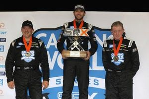 Podium: Race winner Chase Elliot, second place Tony Stewart, third place Bill Elliot, SRX Nashville