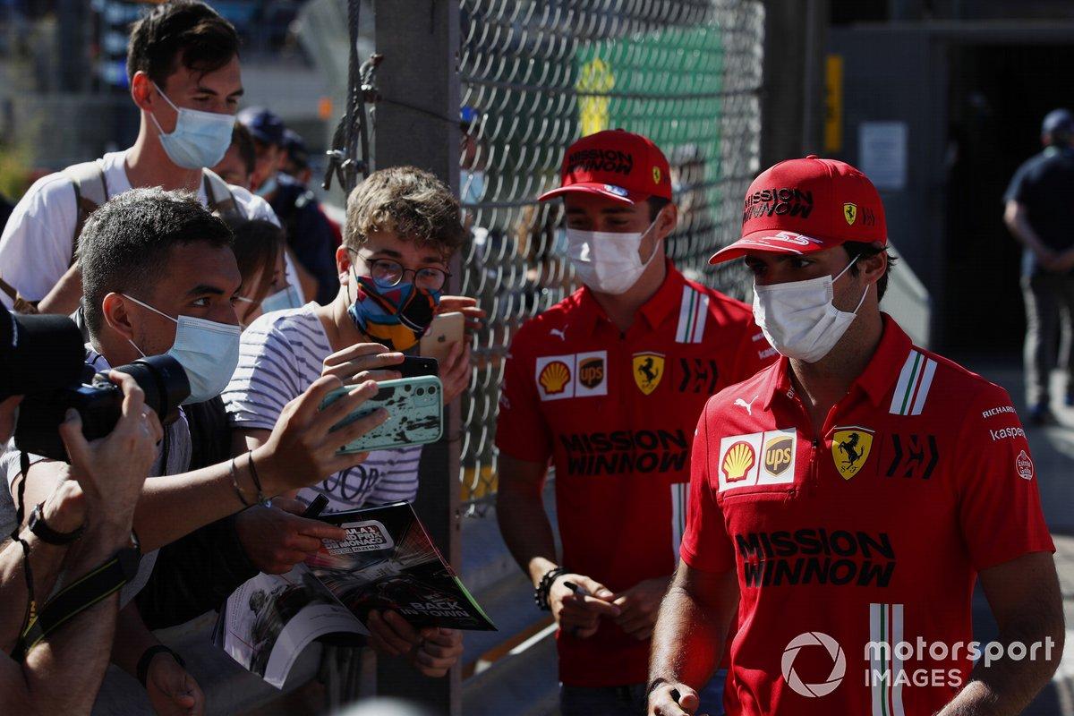 Charles Leclerc, Ferrari, y Carlos Sainz Jr, Ferrari