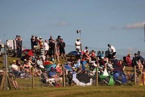 Fans at the BTCC Snetterton