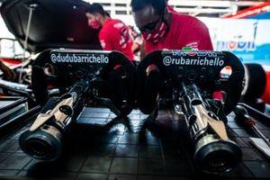 Volantes de Dudu e Rubens Barrichello