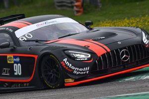 #90 AKM-Antonelli Motorsport, Mercedes-AMG GT3 Evo: Luca Segù, Bar Baruch