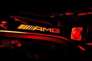 AMG logo on the Mercedes W12