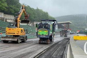 Het circuit van Spa-Francorchamps wordt hersteld na een overstroming
