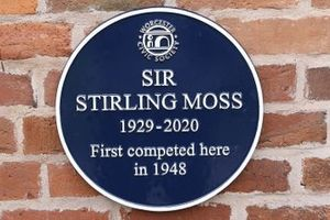 Plaque in memory of Stirling Moss