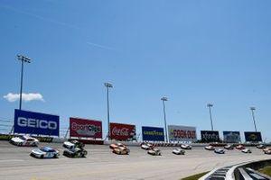 Austin Cindric, Team Penske, Ford Mustang Car Shop and A.J. Allmendinger, Kaulig Racing, Chevrolet Camaro Hyperice