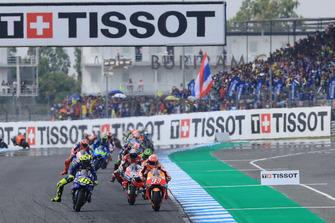Renn-Action: Marc Marquez, Repsol Honda Team, Valentino Rossi, Yamaha Factory Racing