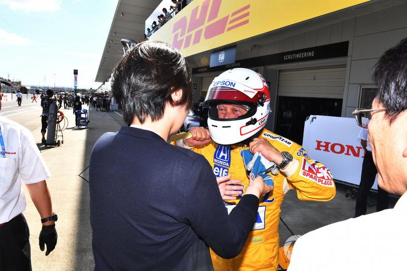 Satoru Nakajima, acara demonstrasi lap Perayaan Legenda F1 ke-30