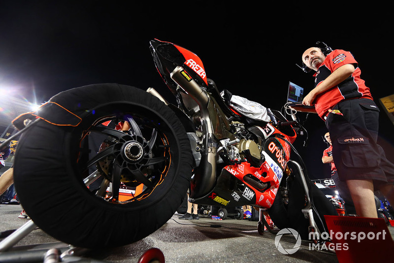 La moto di Marco Melandri, Aruba.it Racing-Ducati SBK Team