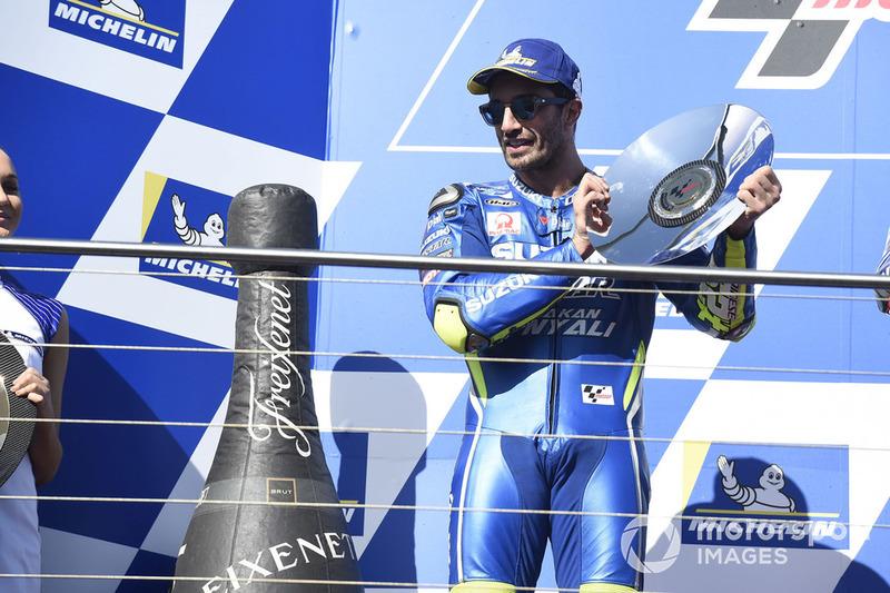 Podium kedua, Andrea Iannone, Team Suzuki MotoGP