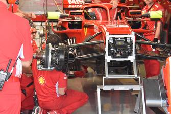 Ferrari SF71H detall de la rueda