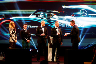 Allan McNish presents the Racing Car of The Year award to the Mercedes F1 Team for their Mercedes AMG F1 W09