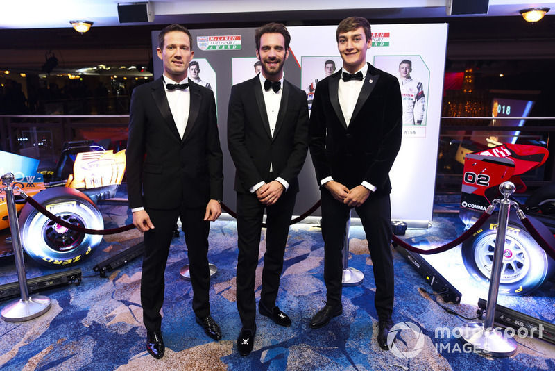 Чемпион мира по ралли Себастьен Ожье, чемпион Формулы E Жан-Эрик Вернь и чемпион Ф2 Джордж Расселл