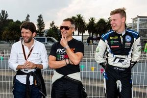 Andy Priaulx and Johan Kristoffersson look on in the ROC Skills Challenge