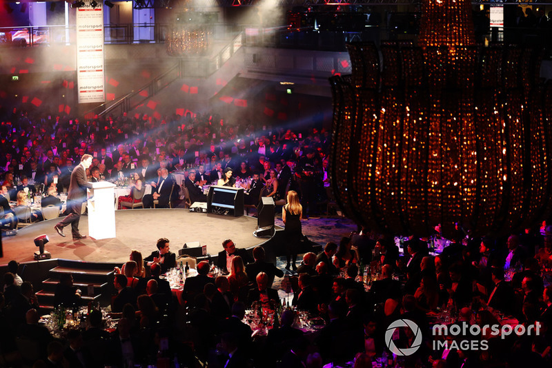 James Allen, Vorsitzender des Motorsport Network, am Gala-Abend in London