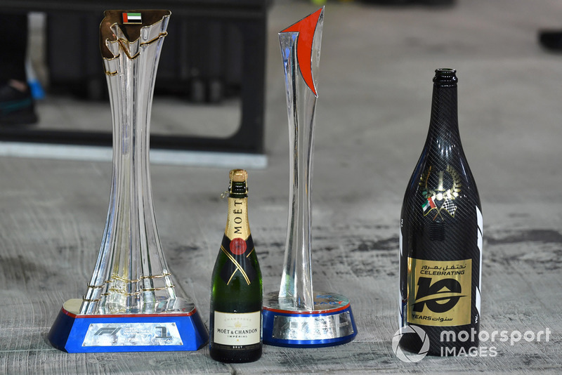 Trophies and champagne