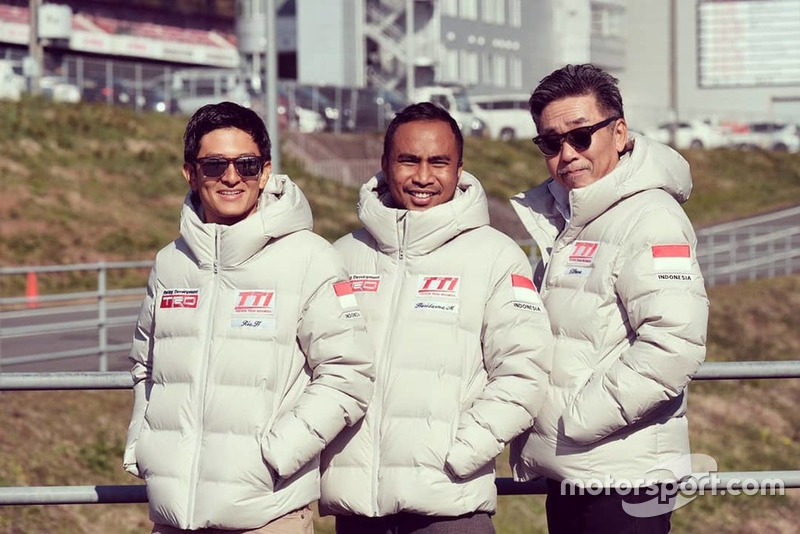 Rio Haryanto, Hari Darma Manoppo, Toshio Obara, Toyota Team Indonesia