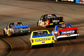 Matt Crafton, ThorSport Racing, Ford F-150 Ideal Door/Menards and Stewart Friesen, Halmar Friesen Racing, Chevrolet Silverado We Build America