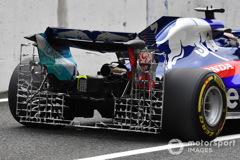Scuderia Toro Rosso STR13 with rear aero sensor