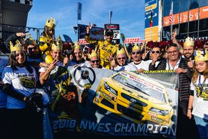 2018 champion Alon Day, Caal Racing, celebrates with his team