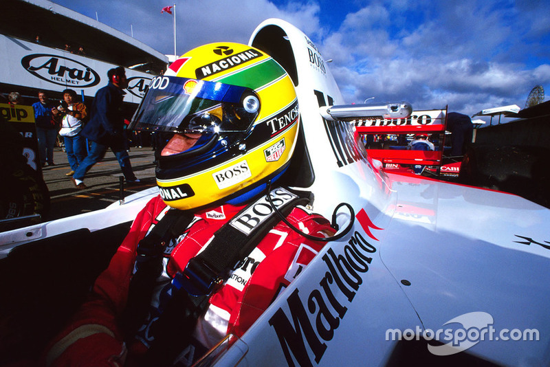 Ayrton Senna, McLaren Ford MP4/8, no GP do Japão de 1993