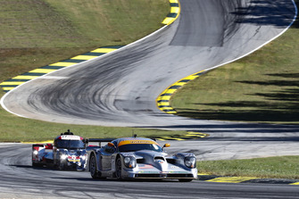 Panoz Esperante GTR-1 and Delta Wing cars make an exhibition lap