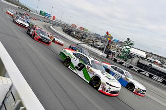 Tyler Reddick, JR Motorsports, Chevrolet Camaro BurgerFi and Cole Custer, Stewart-Haas Racing, Ford Mustang Autodesk