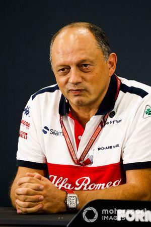 Frederic Vasseur, Team Principal, Sauber, en conférence de presse