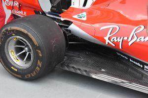 Ferrari SF71H, dettaglio del fondo