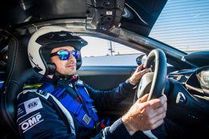 Safety car driver Bruno Correa