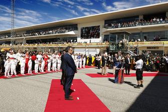 Pre-race grid ceremonie
