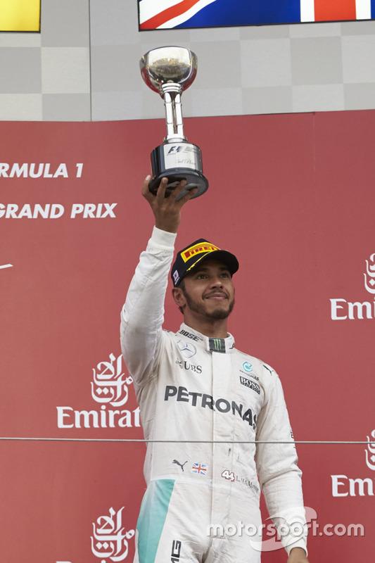Podium : le troisième Lewis Hamilton, Mercedes AMG F1