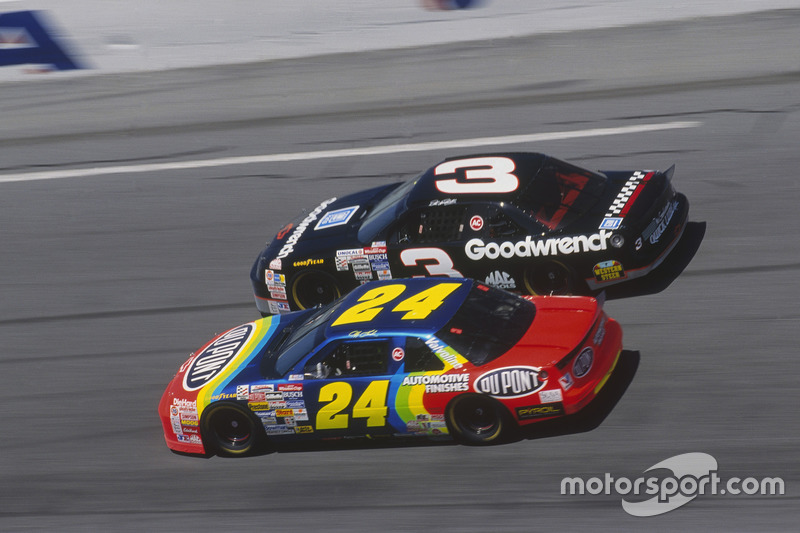 Jeff Gordon travou grandes disputas com Dale Earnhardt, recordista de títulos (7) ao lado de Richard Petty.