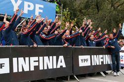 Hyundai Motorsport team celebrates victory