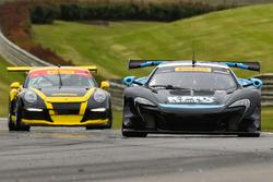 #6 K-Pax Racing McLaren 650S GT3: Austin Cindric, #77 Calvert Dynamics Porsche 911 GT3 Cup: Preston