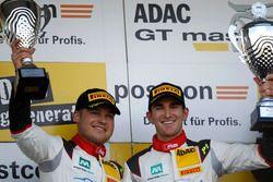 Podium: second place #29 Montaplast by Land-Motorsport, Audi R8 LMS: Connor De Phillippi, Christopher Mies