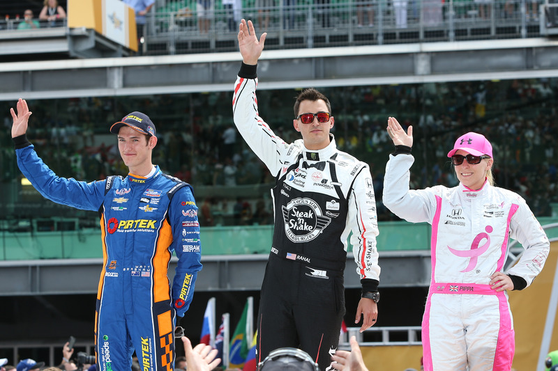 Matt Brabham, Team Murray Chevrolet, Graham Rahal, Rahal Letterman Lanigan Racing Honda, Pippa Mann, Dale Coyne Racing Honda