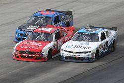 Jeb Burton, Richard Petty Motorsports Ford, Ryan Reed, Roush Fenway Racing Ford, und Brennan Poole,
