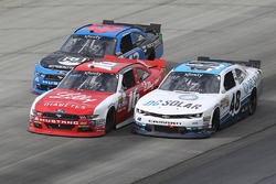 Jeb Burton, Richard Petty Motorsports Ford, Ryan Reed, Roush Fenway Racing Ford, und Brennan Poole,