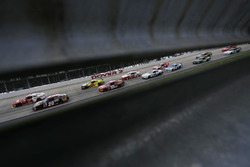 Erik Jones, Joe Gibbs Racing Toyota leads the field