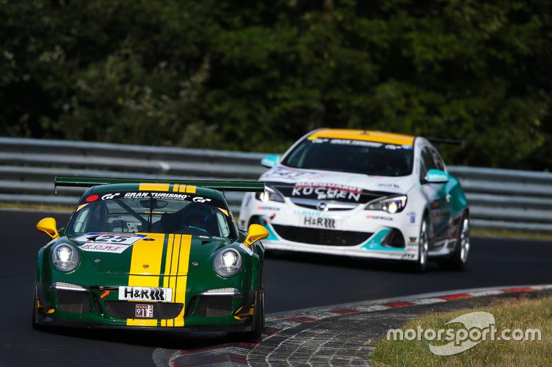 Georg Goder, Dirk Lessmeister, Martin Schlüter, Ralf Öhme, Porsche 991 GT3 Cup