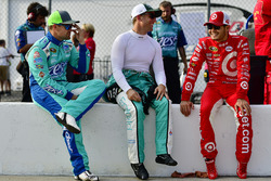 Ricky Stenhouse Jr., Roush Fenway Racing Ford, Jamie McMurray, Chip Ganassi Racing Chevrolet, Kyle Larson, Chip Ganassi Racing Chevrolet