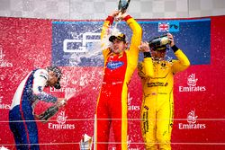 Podium: winner Jordan King, Racing Engineering, second place Luca Ghiotto, Trident, third place Oliv
