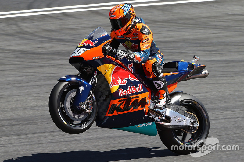 Mika Kallio, KTM MotoGP bike demonstration